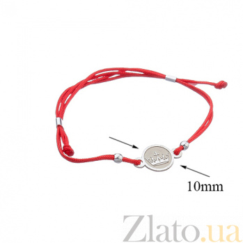 Шелковый браслет со вставкой Корона Корона