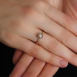 Золотое кольцо с бриллиантом Анемона