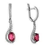 Серебряные серьги с рубином Шантье