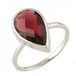 Серебряное кольцо Камилла с гранатом