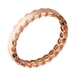Минималистичное кольцо из красного золота в геометрическом стиле 000070806