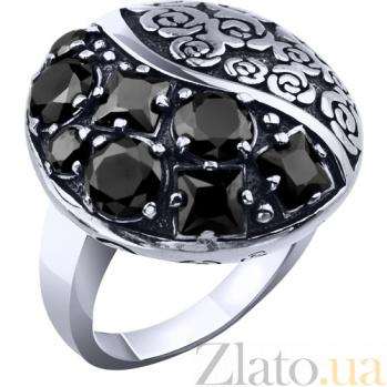 Серебряное кольцо Лунные цветы AUR--71591ч