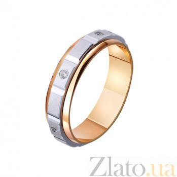 Золотое обручальное кольцо Узы страсти с фианитами TRF--4421131