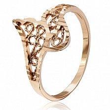 Позолоченное кольцо из серебра Дариелла