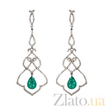 Золотые серьги с бриллиантами и празиолитом Monograms ZMX--EDPr-00108w