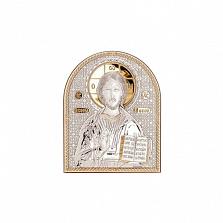 Иисус Христос икона серебро с позолотой