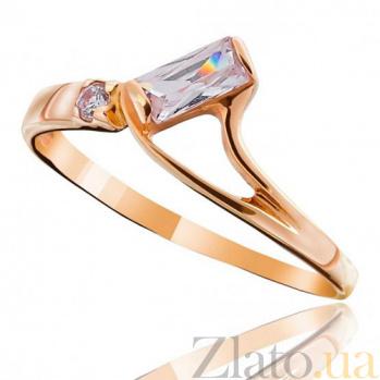 Золотое кольцо с цирконием Изабелла EDM--КД009