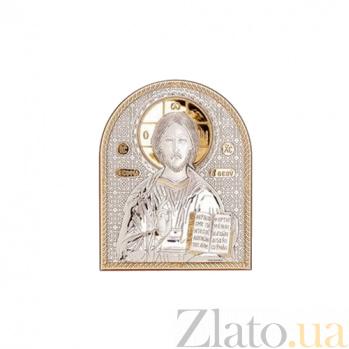 Иисус Христос икона серебро с позолотой AQA--01132222