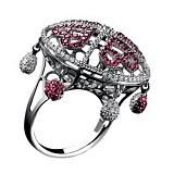 Золотое кольцо с рубинами и бриллиантами Шахерезада