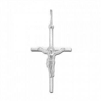 Православний срібний хрестик 000135421