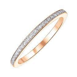 Золотое кольцо в комбинированном цвете с бриллиантами 000141503