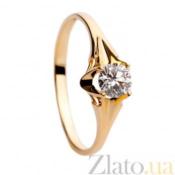 Золотое кольцо с бриллиантом Виталия 000030517