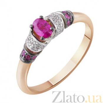 Золотое кольцо с  рубином и бриллиантами Принцесса Будур KBL--К1001/комб/руб