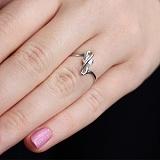 Серебряное кольцо Риолетта с фианитом