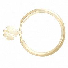 Золотое кольцо с подвеской Клевер