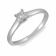 Кольцо из белого золота Моя леди с бриллиантом