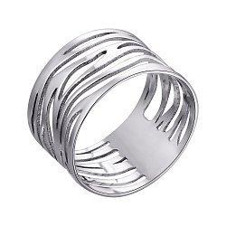 Кольцо из белого золота с перфорацией 000132360