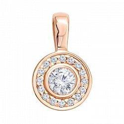 Кулон из красного золота с бриллиантами 000005609