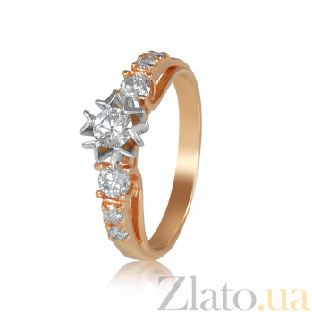 Золотое кольцо с бриллиантами Снежана EDM--КД7540