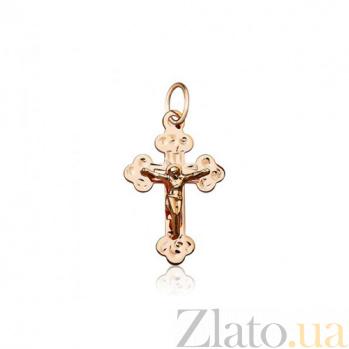 Золотой крестик Крещение EDM--КР050