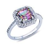 Серебряное кольцо с мистик топазом Дамиана