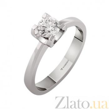 Золотое кольцо с бриллиантом Арабель KBL--К1942/бел/брил