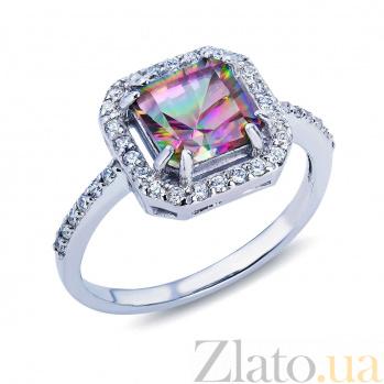 Серебряное кольцо с мистик топазом Дамиана AQA--R01295MT