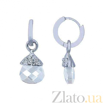 Серьги-подвески серебряные Сваровски AQA--S228550326