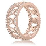 Кольцо из розового золота Восторг: Нектар Жизни с бриллиантами