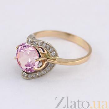 Золотое кольцо с аметистом и фианитами Элегия VLN--112-1430-4