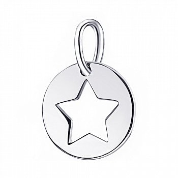 Срібний кулон з родіюванням 000106714