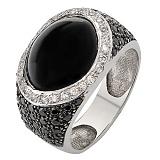Серебряное кольцо с цирконием Мерцание