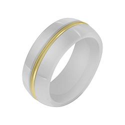 Кольцо в желтом золоте Евгения с керамикой 000040950