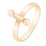 Кольцо из желтого золота Внутренний стержень