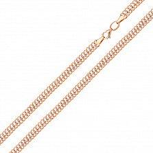 Золотая цепь Нуаль в комбинированном цвете плетения вияна с алмазной гранью