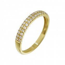 Кольцо из желтого золота Асия с бриллиантами