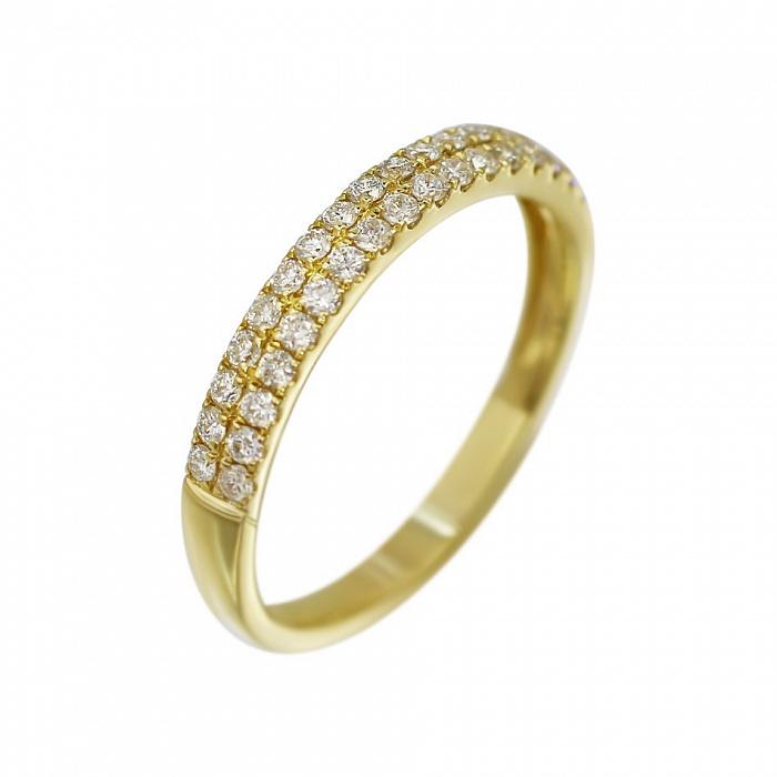 Кольцо из желтого золота Асия с бриллиантами 000080994