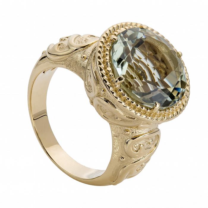 Золотое кольцо с кварцем Феран 000030048