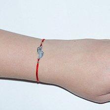Шелковый браслет Happy Together с серебряной вставкой