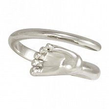 Кольцо из белого золота Пяточка младенца