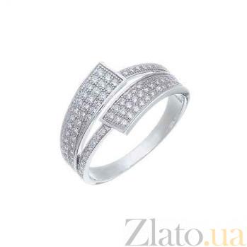 Серебряное кольцо с дорожкой из камней AQA--XJR-0229