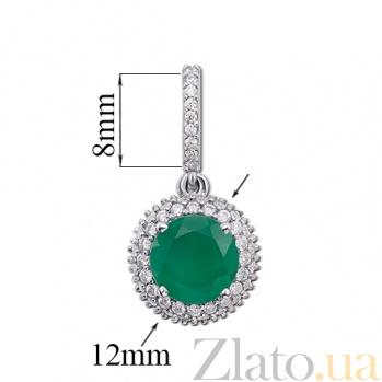 Кулон из серебра Юфеза с зеленым агатом  3628р зел.агат