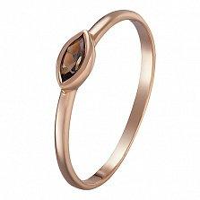 Кольцо в красном золоте Николетта с раухтопазом