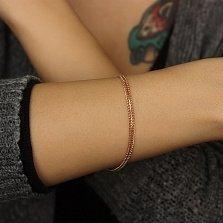 Золотой браслет Вияна в плетении десятка