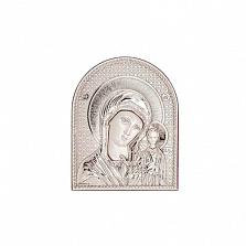 Серебряная икона Казанской Божьей Матери