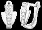 Сережки из серебра с цирконием Эрнестина SLX--С2Ф/336