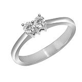 Кольцо из белого золота Тандем с бриллиантами