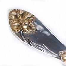 Серебряная столовая ложка Орхидея