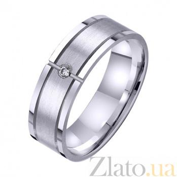 Золотое обручальное кольцо Ты и Я вместе навсегда с фианитом TRF--4221720