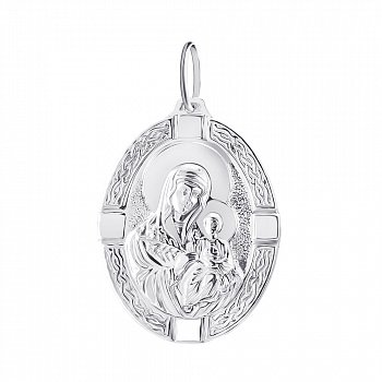 Серебряная ладанка Божья Матерь Неувядаемый Цвет 000134746